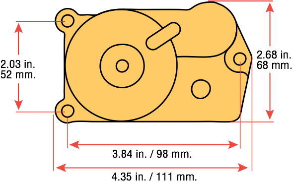 PAC Linear Actuator Top View