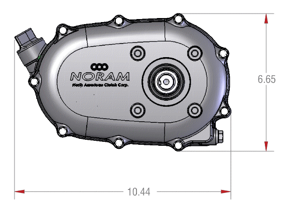 61100 Reduction Gearbox Front View